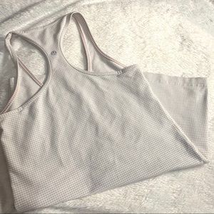 Lululemon tank small white and gray